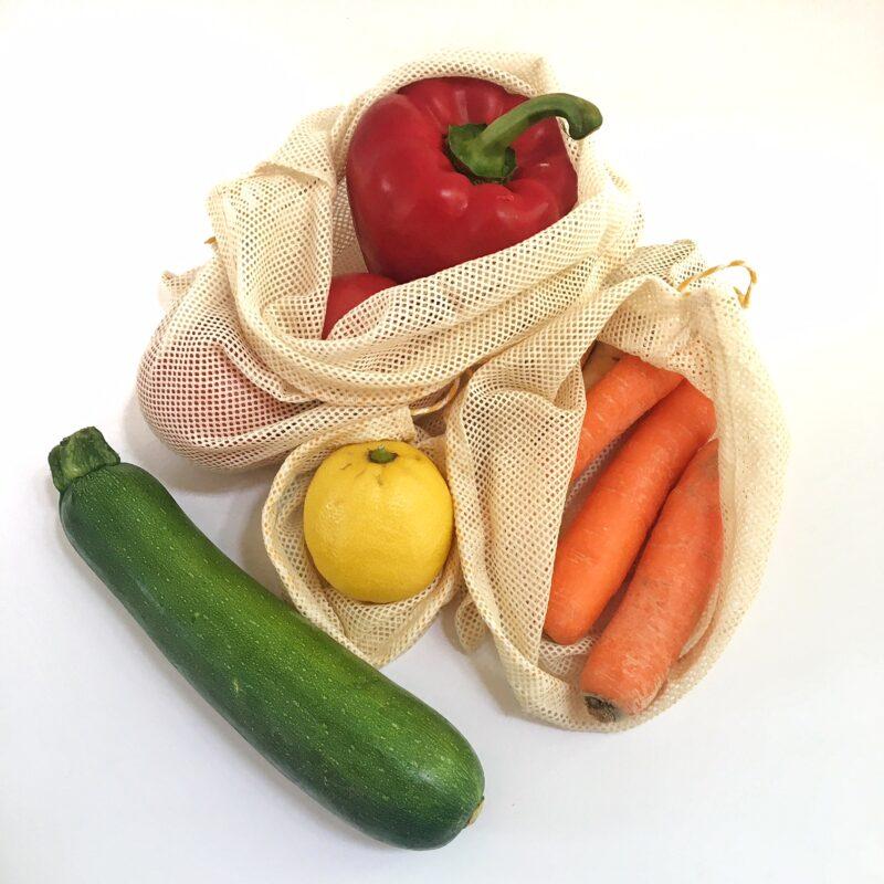 owoce w woreczku wielorazowym